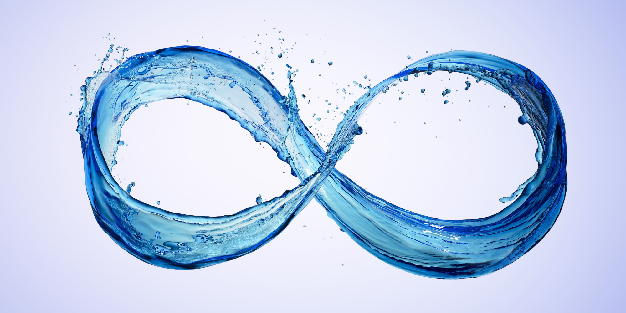 Water taking the shape of an infinity symbol